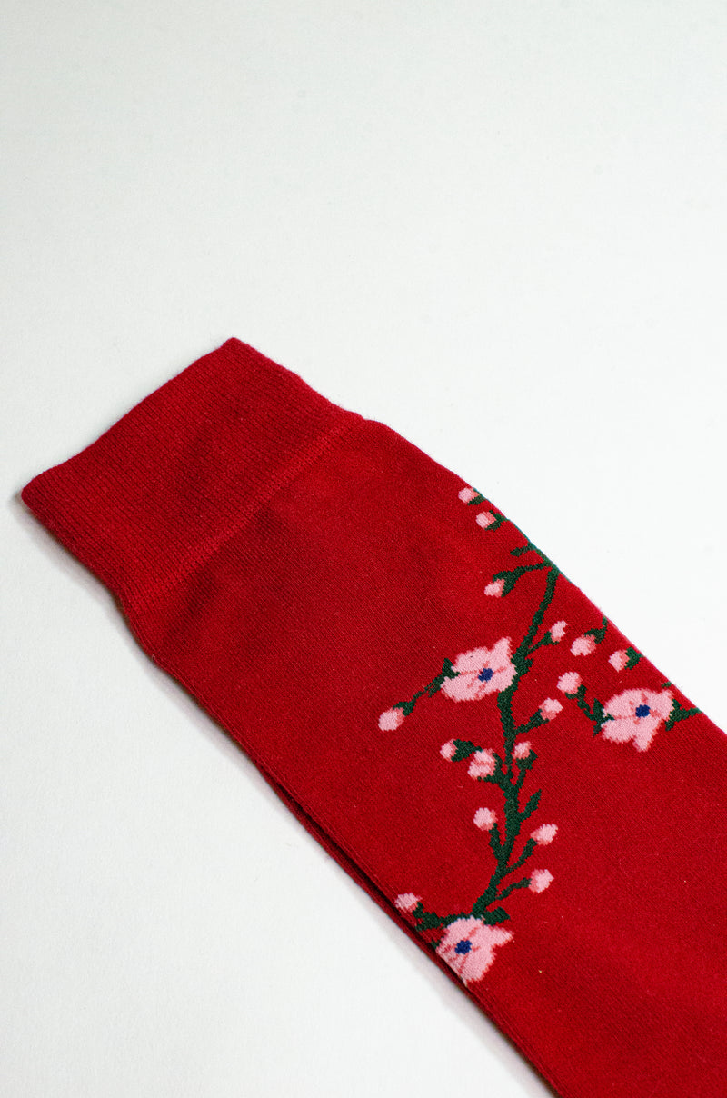 CHERRY BLOSSOM <br> RED <br> MID-CALF