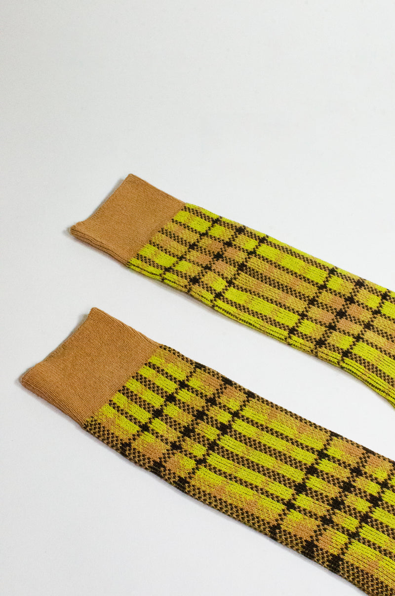 PLAID <br> YELLOW <br> MID-CALF