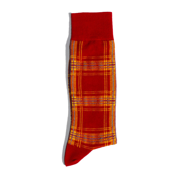 PLAID <br> RED <br> MID-CALF
