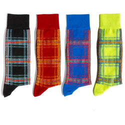 ALL PLAID - ALL THE TIME.<br>Mid Calf<br>4 PACK