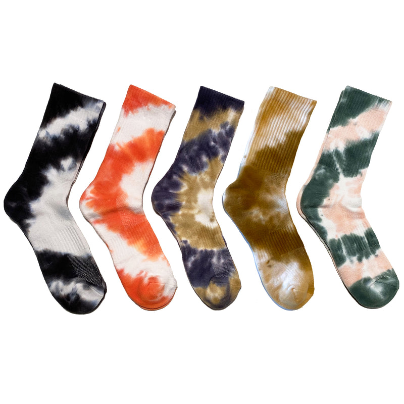 COUCHELLA 2020 <br>TIE DYE 5-Pack <br> HI-ANKLE ATHLETIC