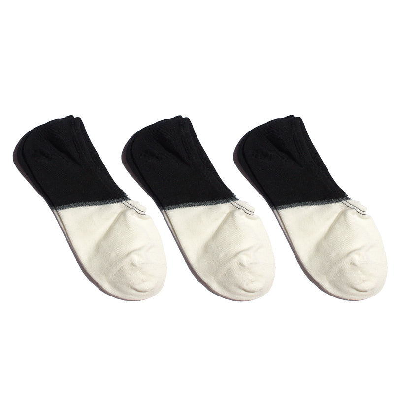 TWENTYTHREE (3Pack) <br> BLK/WHT <br> NO-SHOW