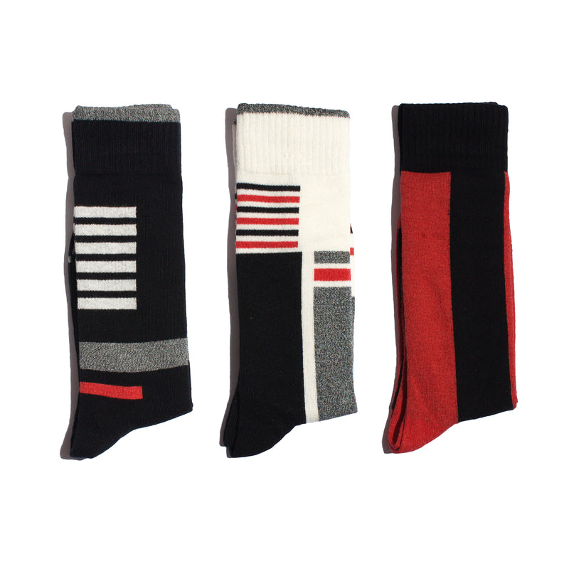 Stripes, But Not -Mid Calf - 3 Pack