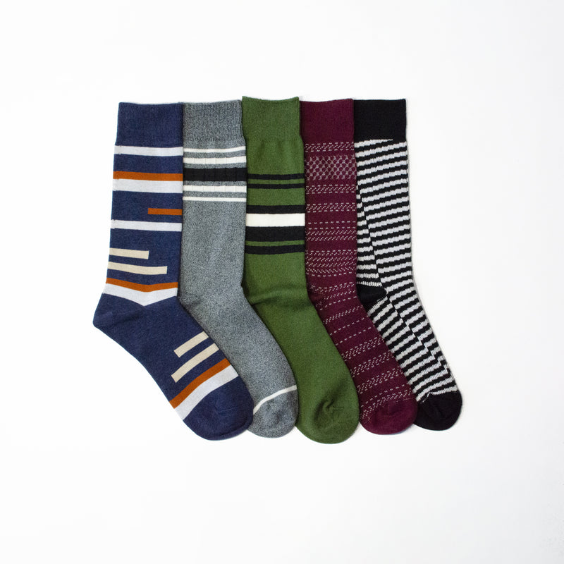 Cause Stripes Are Better<br>Mid Calf<br>5 Pack