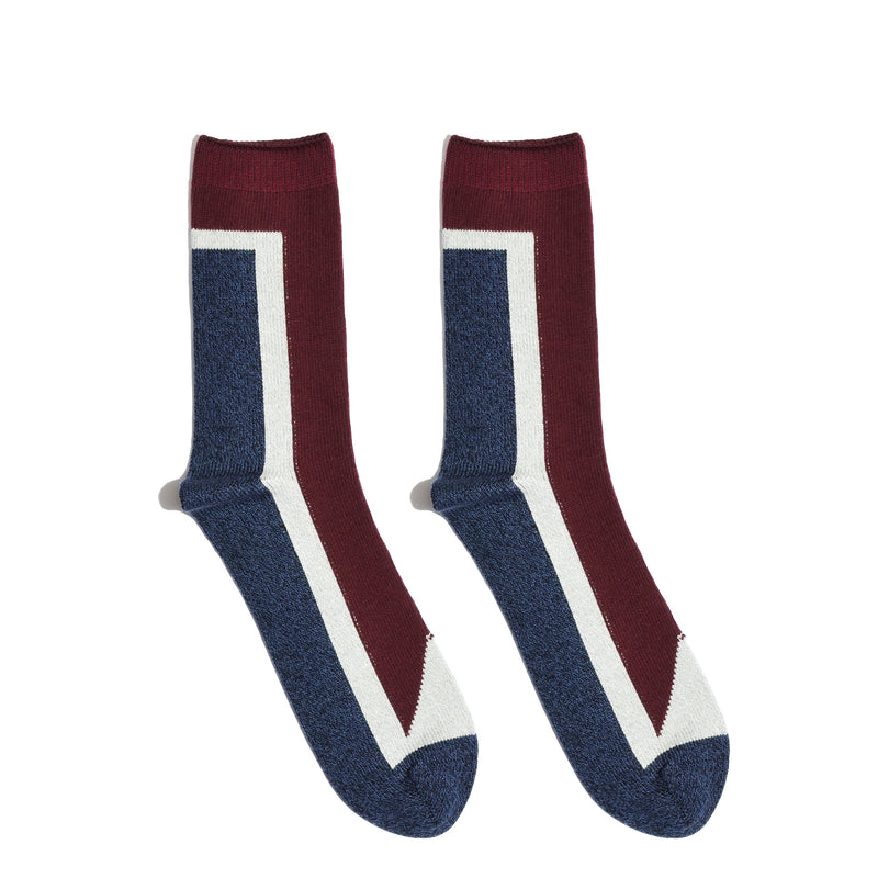 SEVEN <br> OXBLOOD/NAVY <br> HI-ANKLE