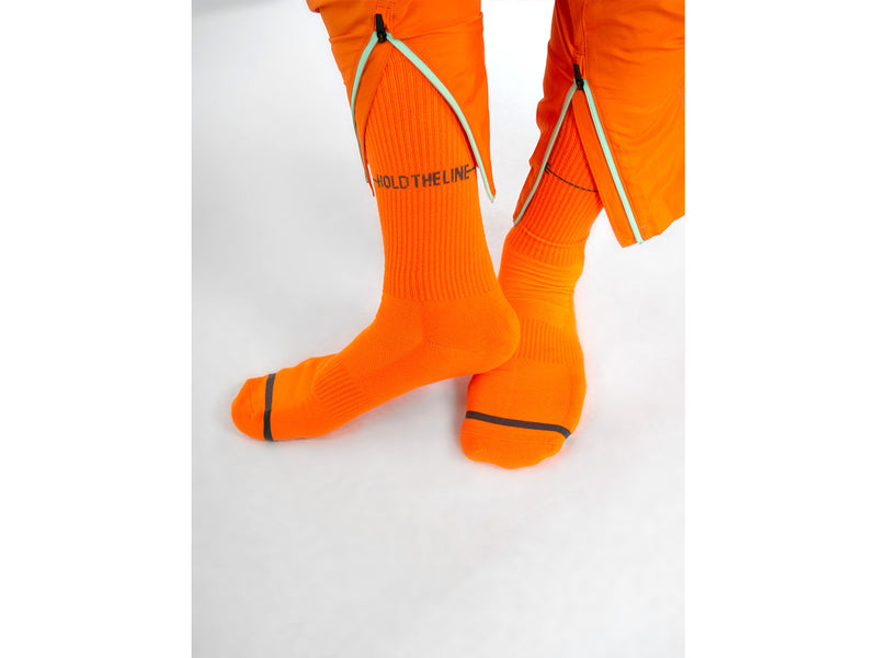 HOLD THE LINE <br> ORANGE <br> MID-CALF ATHLETIC