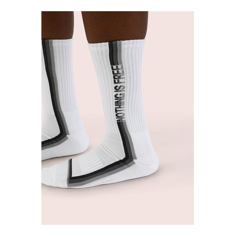 EIGHTY EIGHT <br> WHITE <br> MID-CALF ATHLETIC