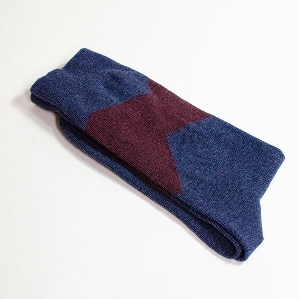 Colorblock <br> NAVY <br> MID-CALF
