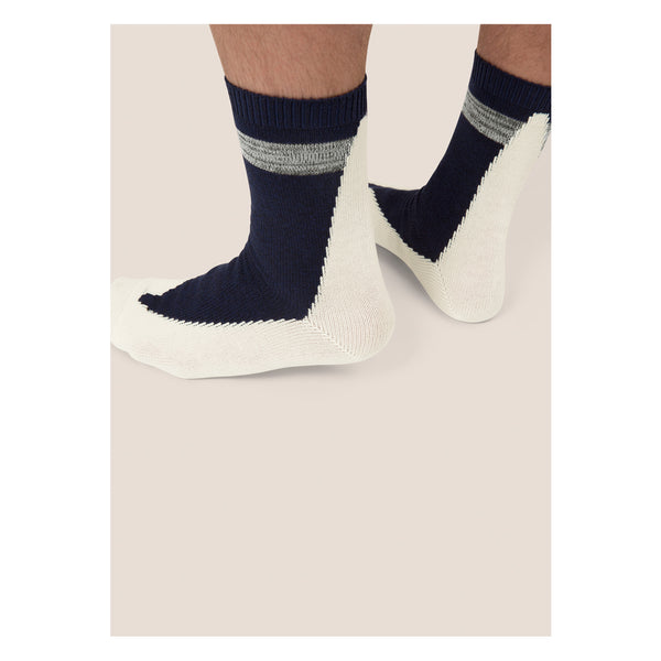FIVE <br> NVY/WHT <br> HI-ANKLE