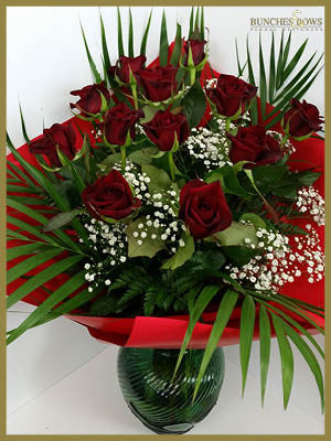 12 Red Roses, Bunches & Bows Florist, Shop 9, Albion Place, Dunedin 9016