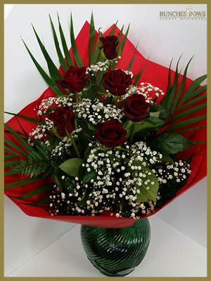 6 Red Roses2, Bunches & Bows Florist, Shop 9, Albion Place, Dunedin 9016