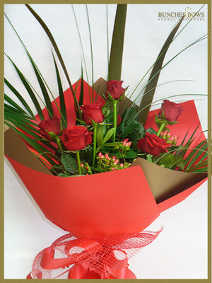 6 Red Roses, Bunches & Bows Florist, Shop 9, Albion Place, Dunedin 9016.jpg