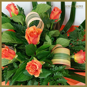 Bouquet of Orange Roses, Bunches & Bows Florist, Shop 9, Albion Place, Dunedin 9016