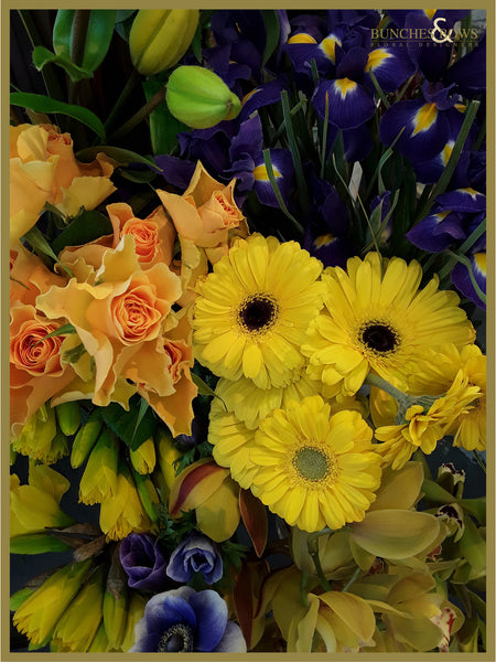 Purples and Yellows Florist Choice Bouquet