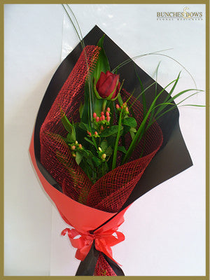 Single Red Rose, Bunches & Bows Florist, Shop 9, Albion Place, Dunedin 9016.jpg