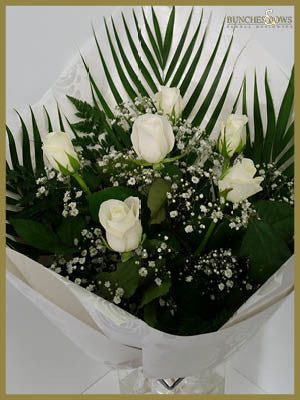 White Rose Bouquet, Bunches & Bows Florist, Shop 9, Albion Place, Dunedin 9016.jpg