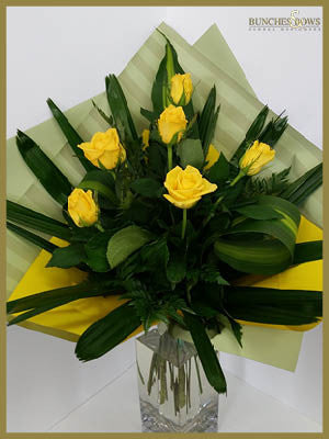Yellow Rose Bouquet, Bunches & Bows Florist, Shop 9, Albion Place, Dunedin 9016.jpg