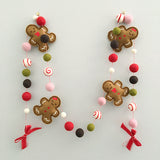 Gingerbread Felt Garland