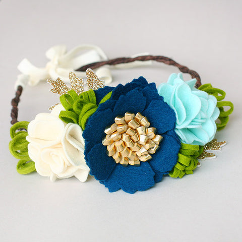 Peacock Woodland Fairy Crown