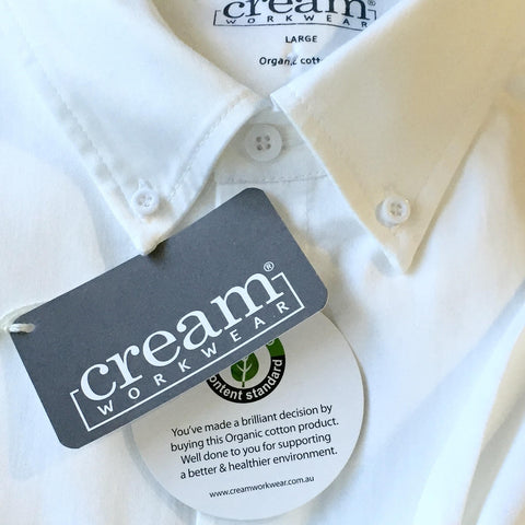 Cream workwear Premium 100% Organic Cotton