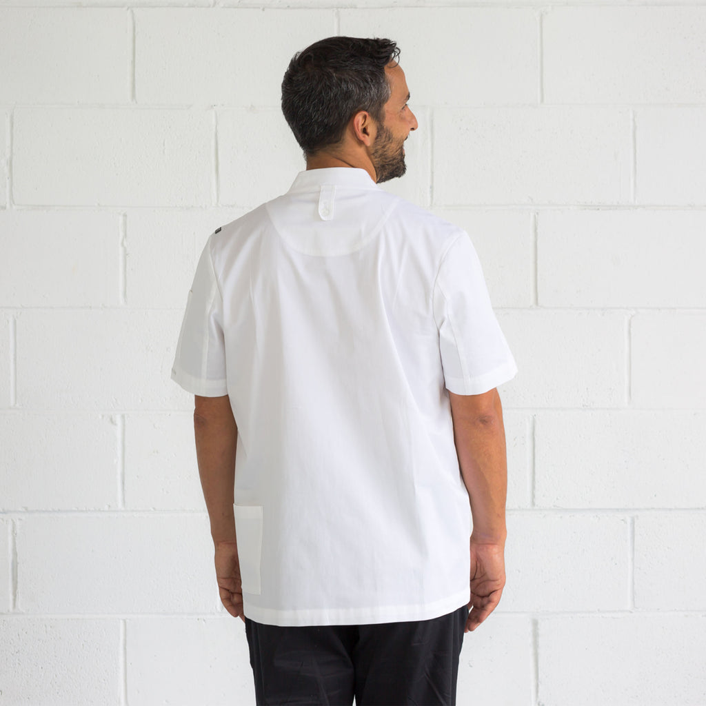 Apron Jo with adjustable neck strap, secret phone pocket, with a loop to secure your tea towel.