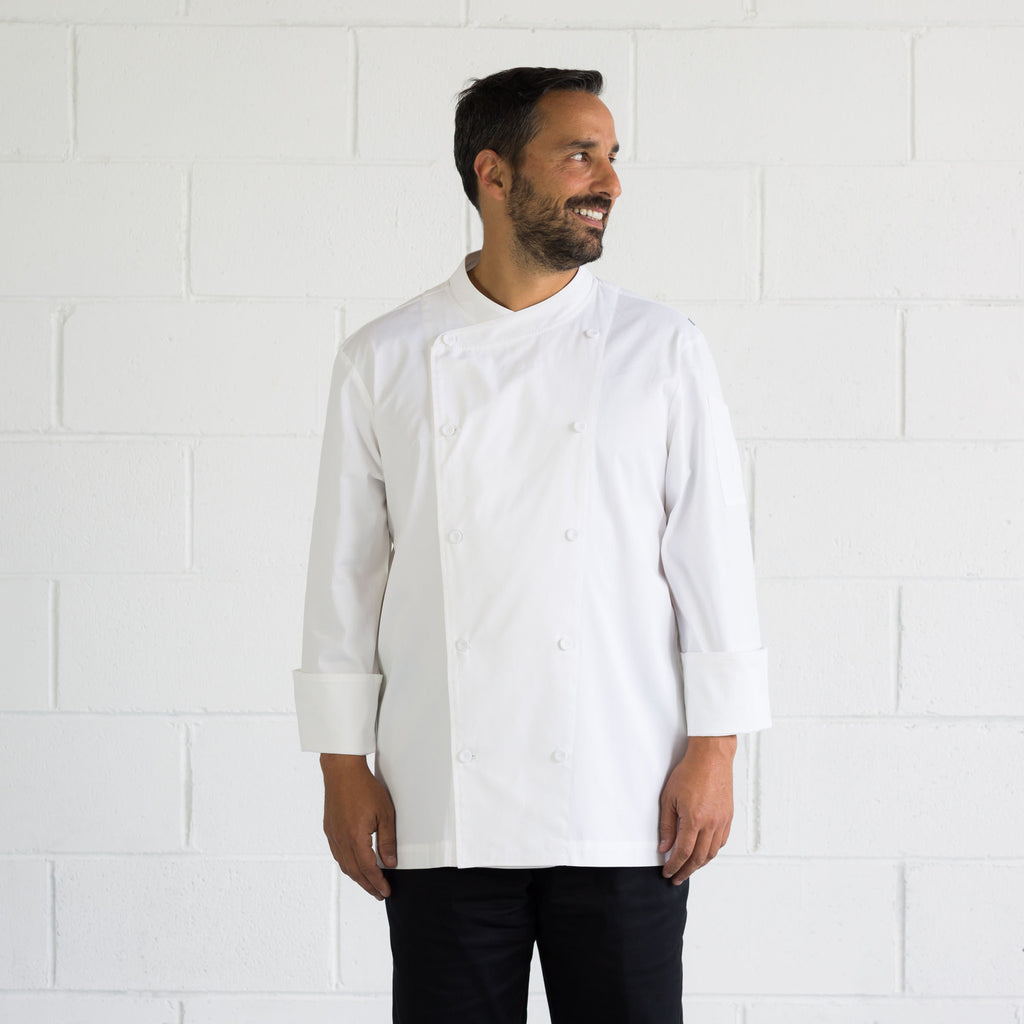 Men's-Chef-Jacket-Classic-Long-Sleeve-White