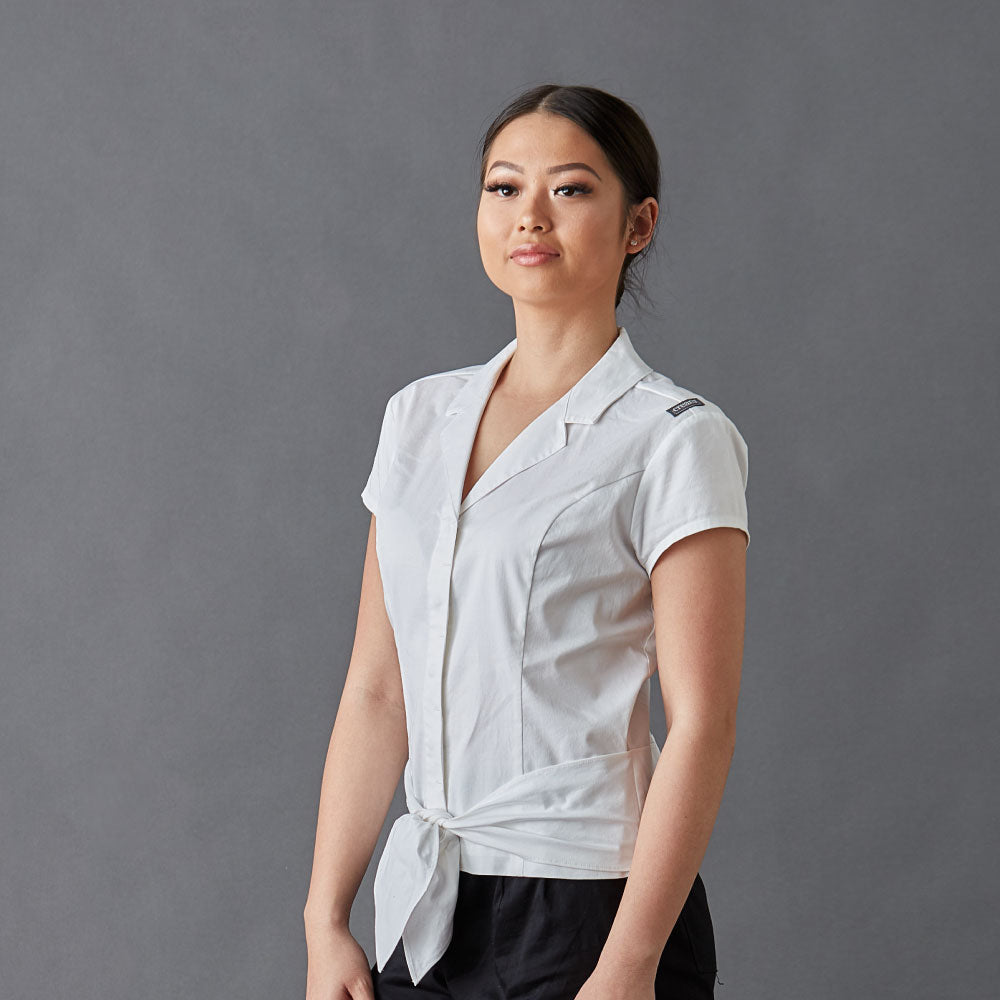 Chef-shirt-simone-White-Front