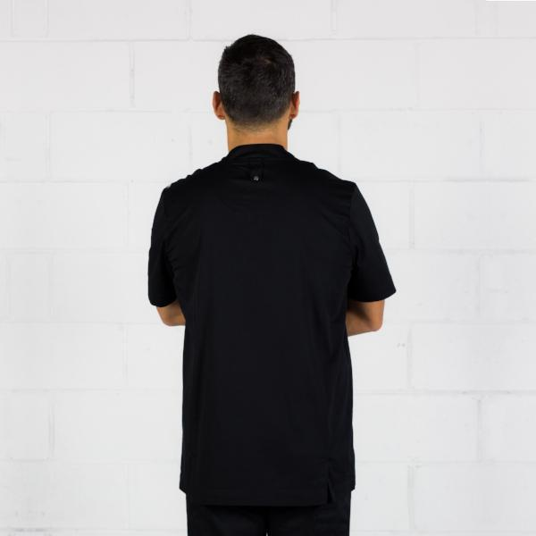Chefs-jacket-Black-Mens-Short-sleeve-back