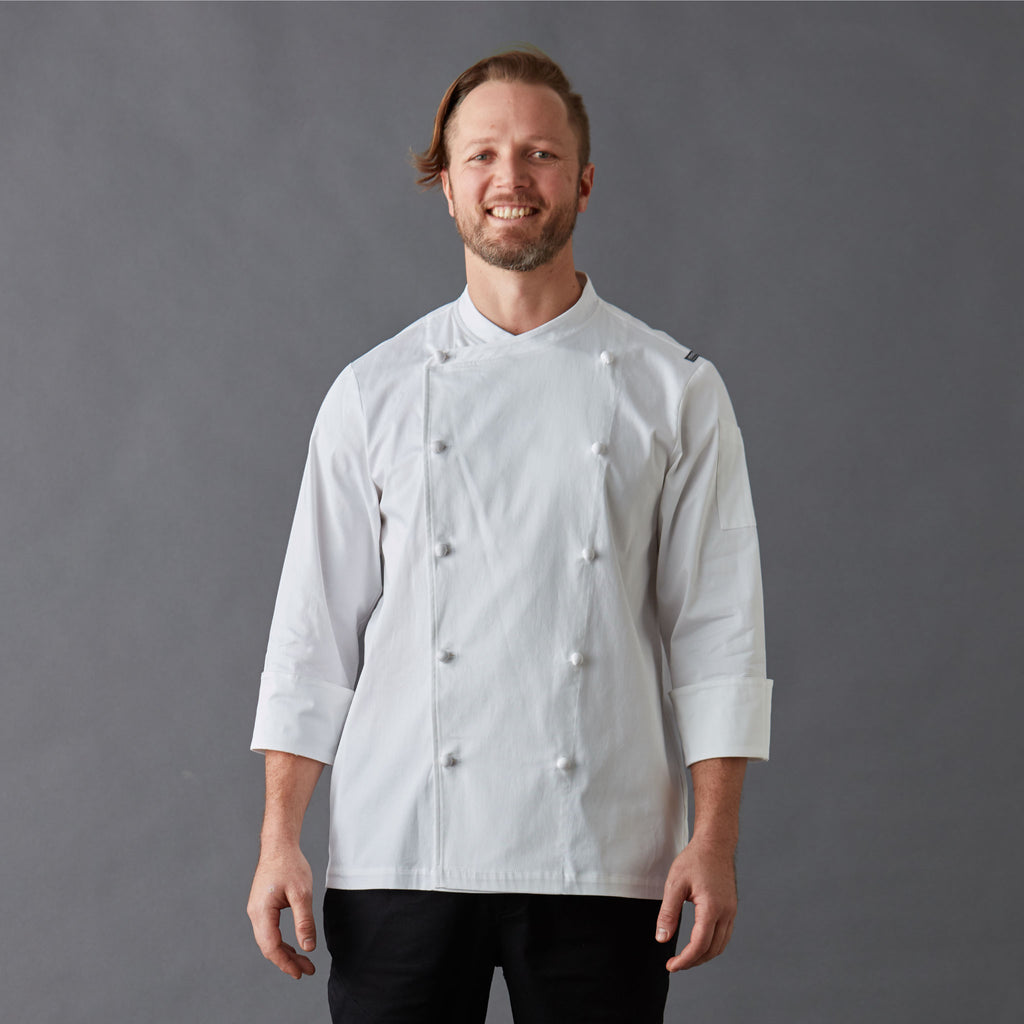 Men's Executive Chef Jacket Long sleeve Organic cotton