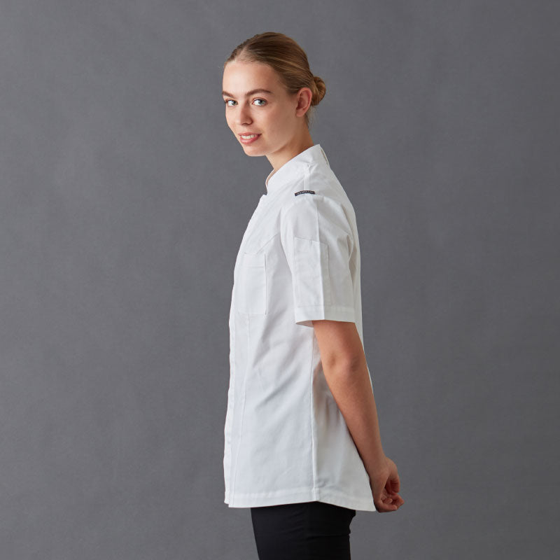 Chef Jackets-Shirt-Frankie-With-Press-Studs-Side