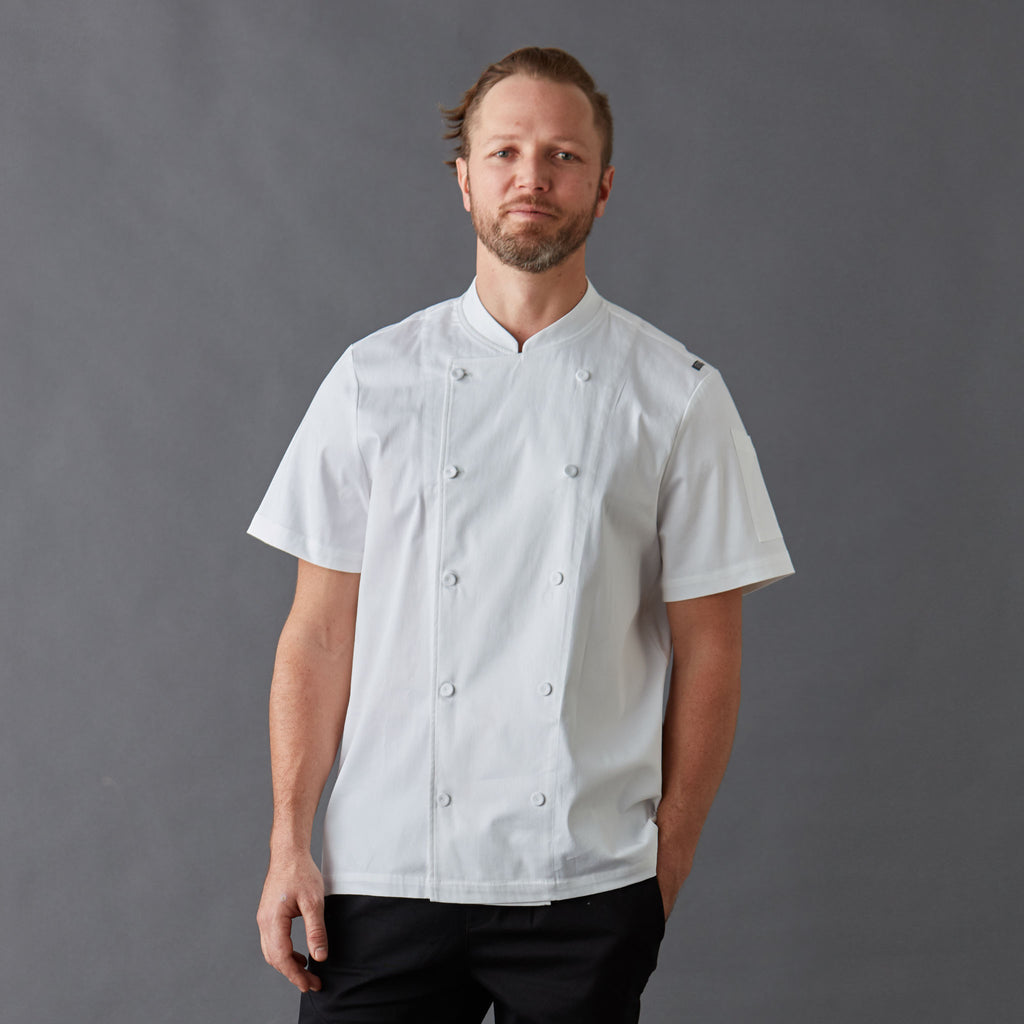 Chef Jacket Men's short sleeve PREMIUM
