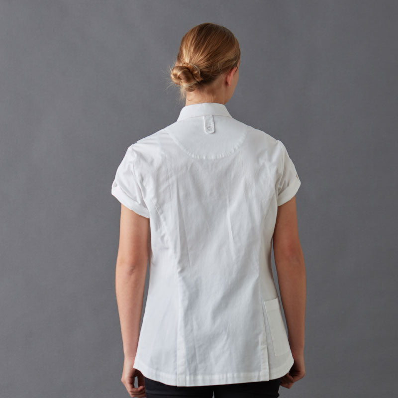 Chef Shirt RICKIE - Womens,made in 100% organic cotton