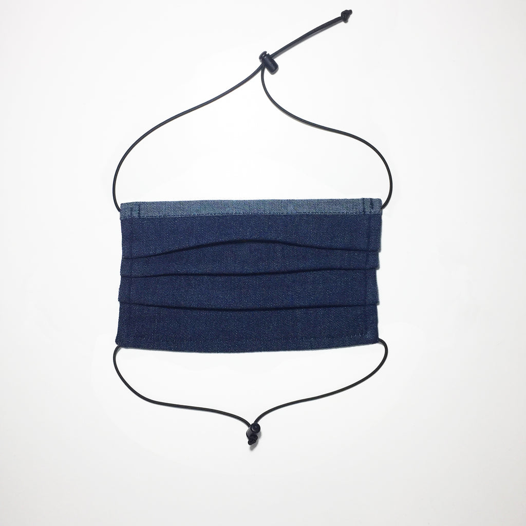 Denim fabric face mask Organic cotton. Made in Australia
