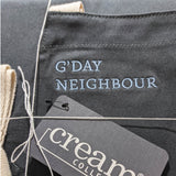 G'Day Neighbour Apron - designed by Jason Roberts