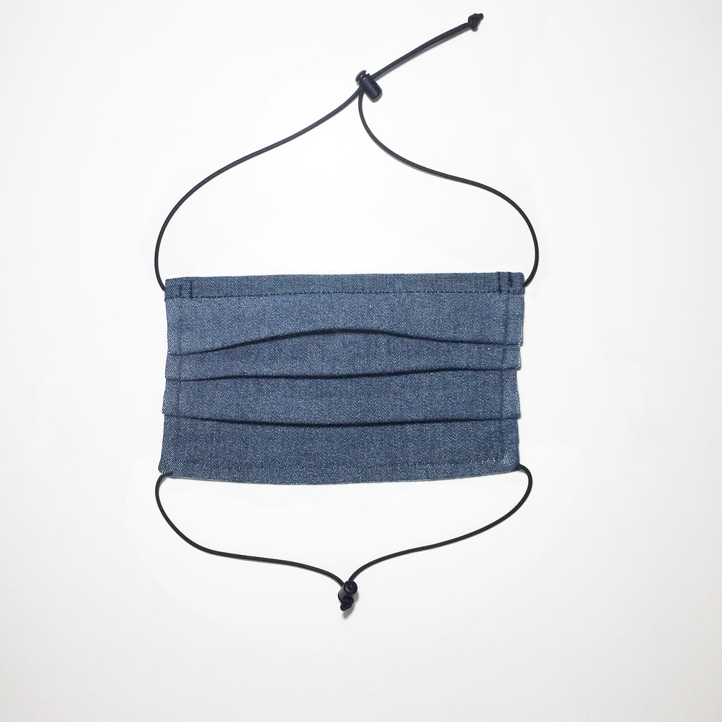 Chambray fabric face mask Organic cotton. Made in Australia