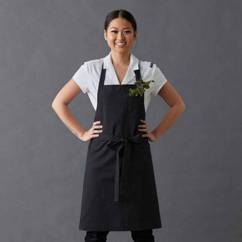 Apron Jo PETITE with adjustable neck strap, secret phone pocket, with tea towel loop