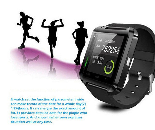 Bluetooth Smartwatch U8 U Smart Watch For Samsung S4 Note 3 HTC Android Phone Smartphones Wear Colors