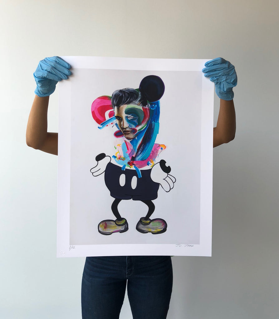 Mickey, There's A Clean Up on Aisle Mid-Century Post-Modernism Limited Edition Print -  Paper and Fabric