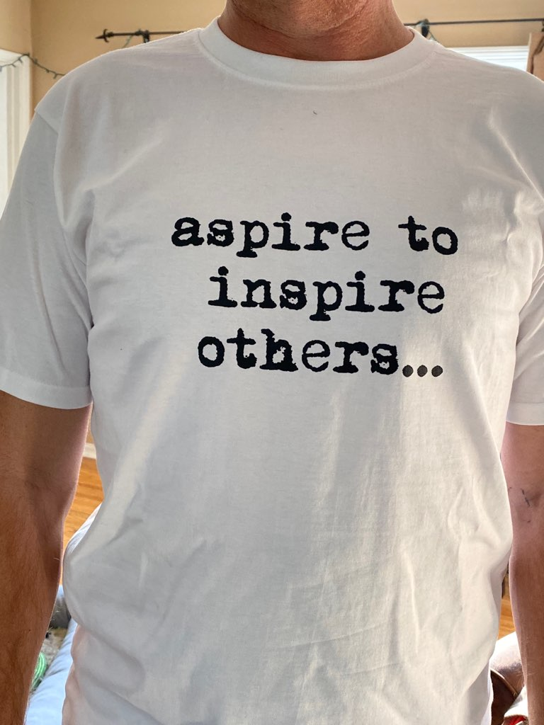 Aspire To Inspire Limited Edition Tee -  Paper and Fabric
