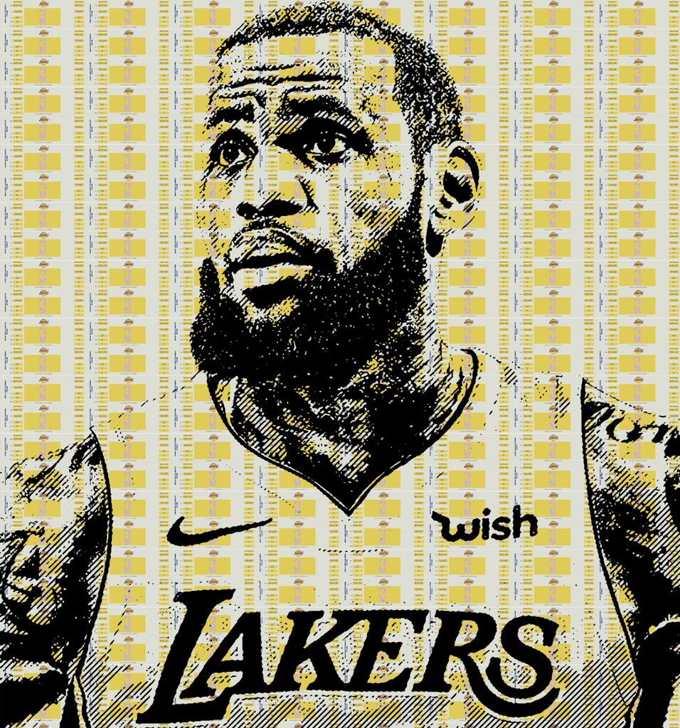 LA-BRON Print -  Paper and Fabric