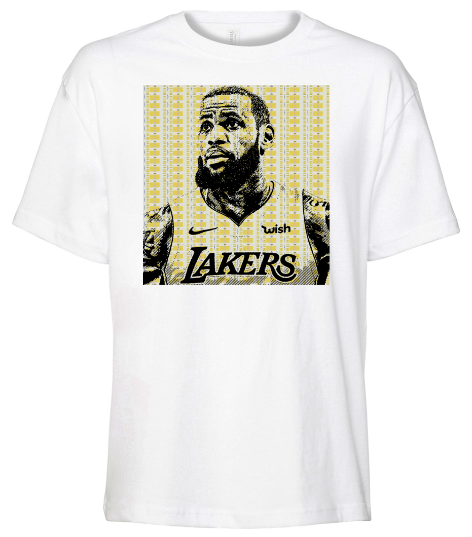 LA-BRON Tee -  Paper and Fabric