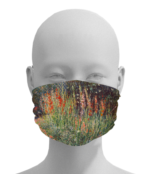 Rounded Flower Bed Mask -  Paper and Fabric