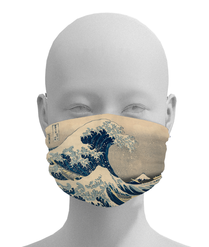 The Great Wave Mask -  Paper and Fabric