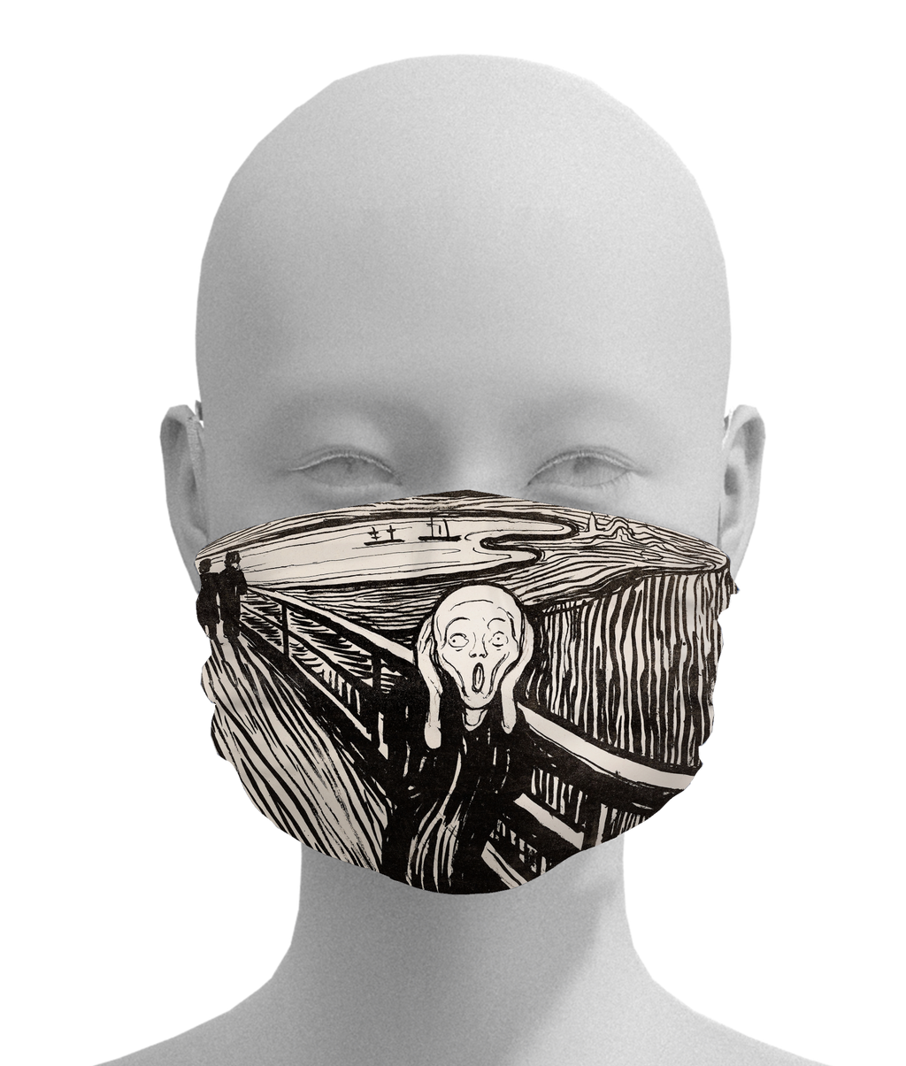 The Scream Mask -  Paper and Fabric
