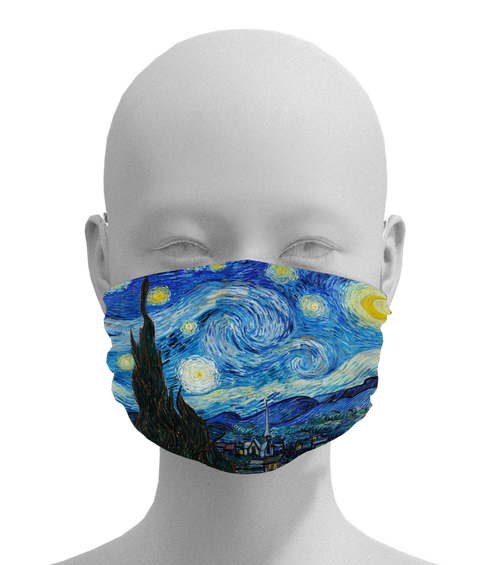 Starry Night Mask -  Paper and Fabric