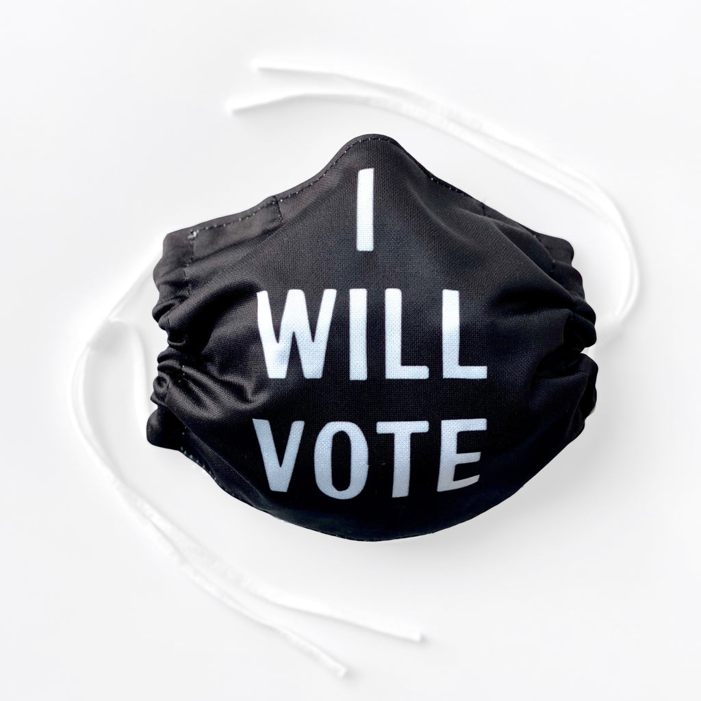 I Will Vote Mask -  Paper and Fabric
