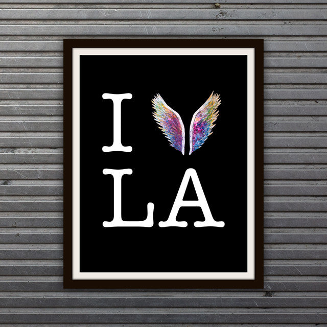 I Fly LA Limited Edition Black Print