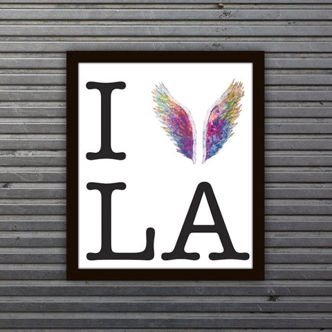 I Fly LA Limited Edition White Print -  Paper and Fabric
