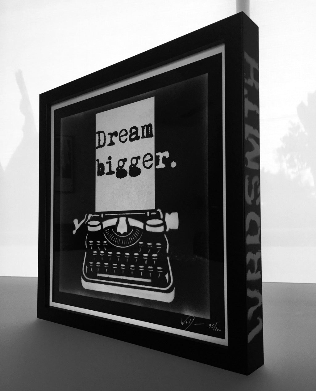 Dream Bigger Print Custom Framed & Spray Painted