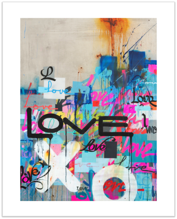 Concrete Love Limited Edition Print -  Paper and Fabric